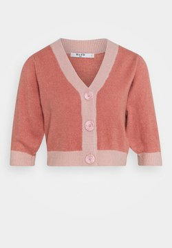NA-KD - BUTTON CROPPED CARDIGAN - Cardigan - pink