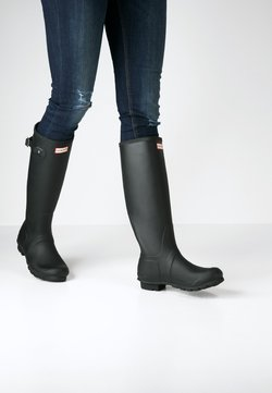 Hunter ORIGINAL - TALL VEGAN - Gummistiefel - black