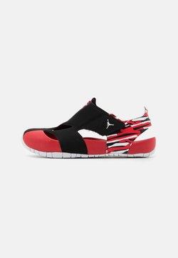 Jordan - FLARE UNISEX - Badslippers - black/white/unerversity red