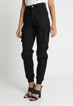 Missguided - PLAIN CARGO TROUSER - Cargo trousers - black
