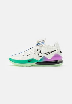 Nike Performance - LEBRON XVII LOW - Obuwie do koszykówki - spruce aura/black/racer blue/sail/vapor green/hyper violet