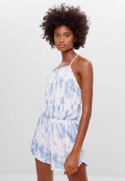 Bershka - TIE-DYE-JUMPSUIT MIT GUMMIZUG 08284831 - Jumpsuit - light blue