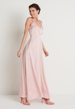 NA-KD - V-NECK FLOWY DRESS - Maxi dress - dusty pink