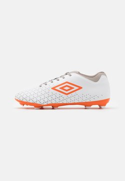 Umbro - VELOCITA V CLUB FG - Moulded stud football boots - white/carrot/frost gray