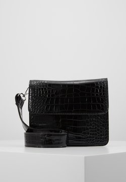 HVISK - CAYMAN SHINY STRAP BAG - Skuldertasker - black
