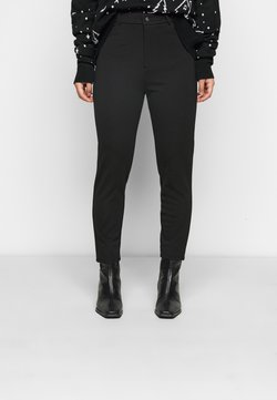 Even&Odd Petite - HIGH WAIST 5 pockets PUNTO trousers - Legging - black