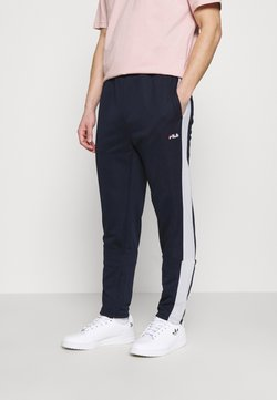 Fila - SANDRO TRACK PANT - Jogginghose - black iris/bright white