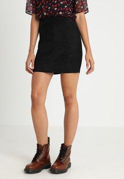 ONLY - ONLJULIE BONDED SKIRT - Mini skirt - black
