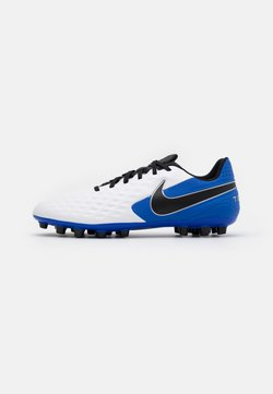 Nike Performance - TIEMPO LEGEND 8 ACADEMY AG - Moulded stud football boots - white/black/hyper royal/metallic silver