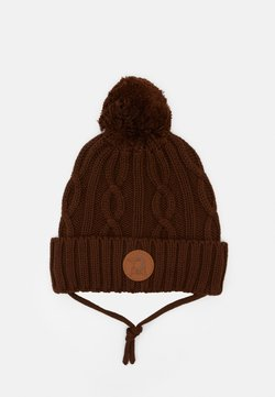 Mini Rodini - CABLE POMPOM UNISEX - Mütze - brown