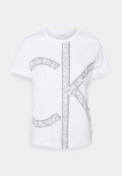 Calvin Klein - PRINT REGULAR FIT - T-Shirt print - white