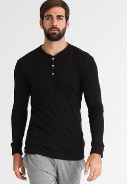 Levi's® - LEVIS 300LS LONG SLEEVE HENLEY - Pyjamashirt - black