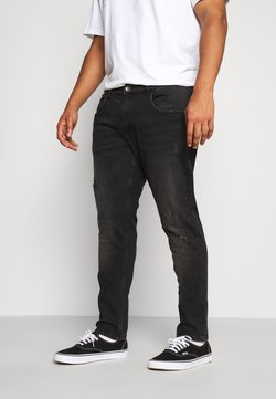 URBN SAINT - USGENEVE DESTROY - Slim fit jeans - edgy black