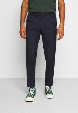 Isaac Dewhirst - PUPPYTOOTH FLAT FRONT TROUSER - Stoffhose - dark blue