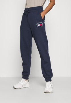 Tommy Jeans - BOX FLAG PANT - Jogginghose - twilight navy