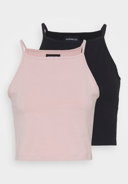 Even&Odd - 2 PACK - Top - black/pink