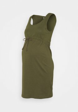 Anna Field MAMA - Jerseykleid - olive