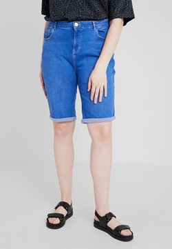 Dorothy Perkins Curve - KNEE - Shorts di jeans - bright blue