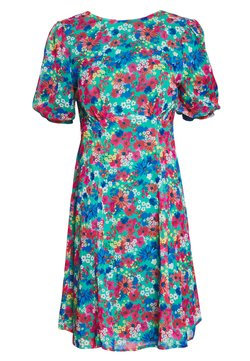 Lost Ink Petite - TIE BACK FLORAL PRINT MIDI DRESS - Sukienka letnia - multi coloured