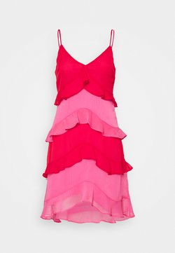 Never Fully Dressed - RUFFLE MINI DRESS - Vestido de cóctel - red