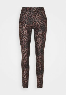 Guess - SEXY CURVE - Stoffhose - iconic leopard brown