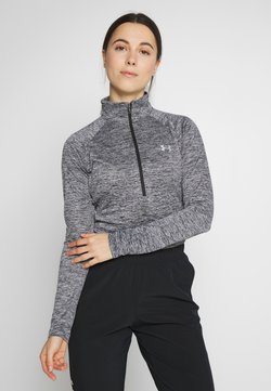 Under Armour - TECH ZIP TWIST - Funktionsshirt - black/metallic silver