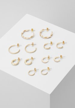 Pieces - PCDIONA HOOP EARRINGS 6 PACK - Øredobber - gold-coloured