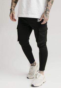 SIKSILK - ATHLETE CARGO PANTS - Cargo trousers - black