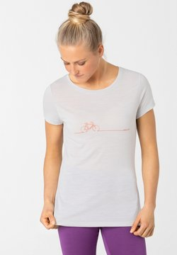 super.natural - BIKE LINE - T-Shirt print - hellgrau