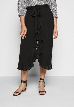 CAPSULE by Simply Be - CRINKLE WRAP CROP TROUSER - Pantalon classique - black