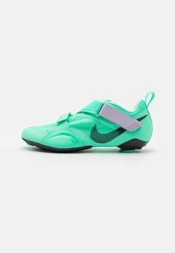 Nike Performance - SUPERREP CYCLE - Fahrradschuh - green glow/dark smoke grey/infinite lilac/laser orange
