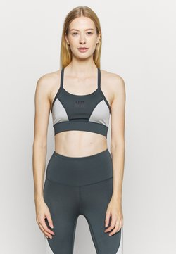 HIIT - HIGH SHINE PANEL BRALET - Sujetador deportivo - mid grey