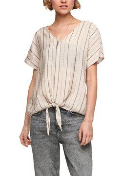 Q/S designed by - Bluse - beige stripes