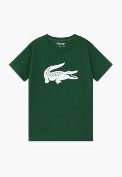 Lacoste Sport - BIG LOGO UNISEX - Print T-shirt - green/white