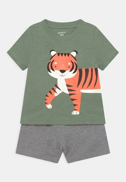 Carter's - 2-Piece Tiger Jersey Tee & Short Set - Shorts - khaki/mottled grey