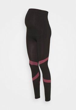 MAMALICIOUS - MLFREYA ACTIVE TIGHTS - Leggings - black/pink lemonade
