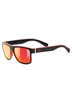 Uvex - Sportbrille - black/red mat