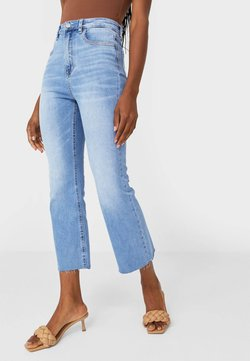 Stradivarius - Flared Jeans - light blue