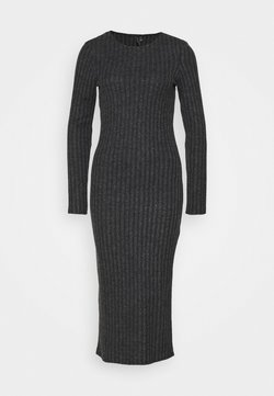 Vero Moda - VMTAMIKA DRESS - Vapaa-ajan mekko - dark grey melange