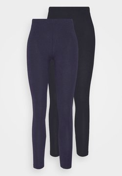 Anna Field - 2 PACK - Leggings - black/dark blue
