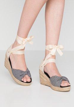 Vero Moda - VMNICOLE WEDGE  - Sandały na platformie - black