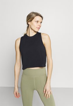 Cotton On Body - LIFESTYLE SEAMLESS YOGA CROPPED TANK - Top - black