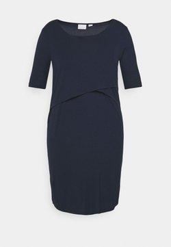 Mamalicious Curve - MLALISON JUNE DRESS - Vestido ligero - navy blazer