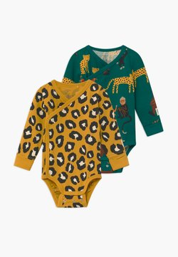 Lindex - MONKEY STORY MONKEY LEOPARD 2 PACK - Body - green