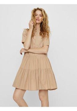 Vero Moda - VMDELTA DRESS - Vestido camisero - beige