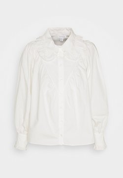 Topshop - RUFFLE COLLAR - Camisa - white