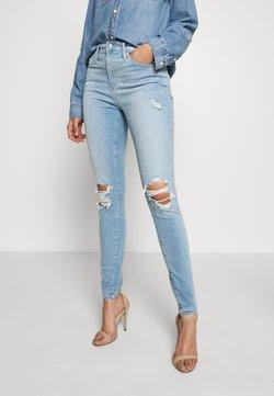 Gap Tall - SKIMMER POM DEST - Straight leg jeans - light indigo destroy