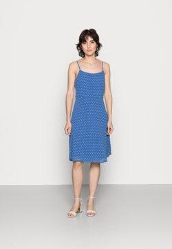 Anna Field - STRAPPA FIT AND FLARE - Freizeitkleid - blue, white