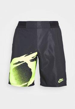 Nike Performance - SLAM - Pantalón corto de deporte - black/hot lime/hot lime
