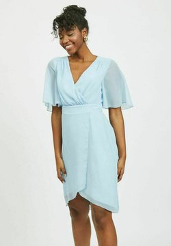 Vila - VIRILLA 2/4 SLEEVE DRESS - Cocktailkleid/festliches Kleid - cashmere blue